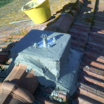 Preparazione pilastro per tirante linea vita | Safety Service, Rosignano, Livorno