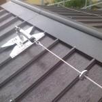 Installazione linee vita su tetto grecato (capannone) | Safety Service, Rosignano, Livorno